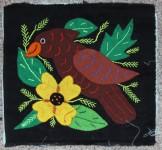 BROWN BIRD & YELLOW FLOWER